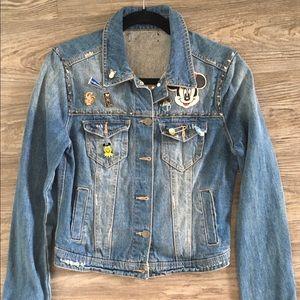 Custom Disney Denim Punk Rocker motorcycle jacket